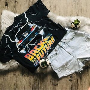 Back to the Future Vintage style tee
